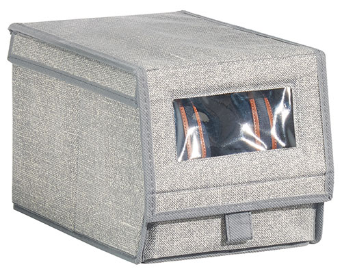 Fabric Shoe Box With Clear Window - Aldo