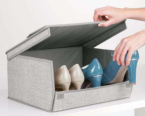 Fabric Boot Storage Box With Clear Window - Aldo