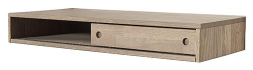 Oak Gyan Desk With Sliding Door