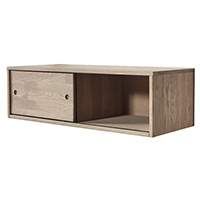 Oak Gyan Cabinet With Sliding Door