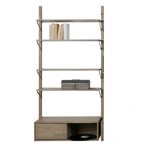 Solid oak shelf from our Gyan range