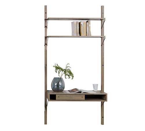 Oak Gyan wall mounted storage single unit