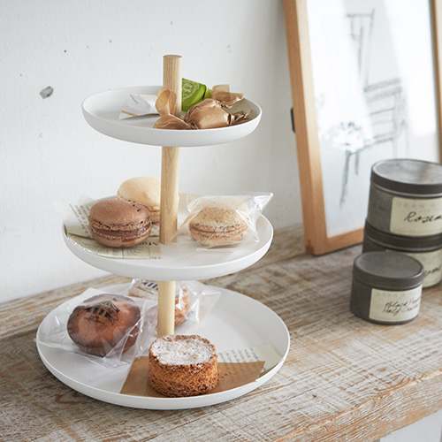 3 tier scandi inspired cake stand