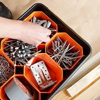15 Ltr Parts Bin Storage Box With Divider Bins
