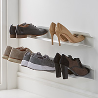 2 x Wall Mounted Shoe Racks - Small