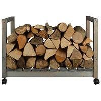 Wooden Log Store On Castors