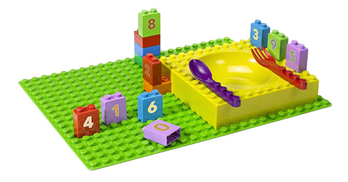 Kids LEGO-Like Dinner Set