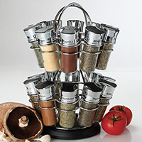 Olde Thompson 20 Jar Revolving Spice Storage Rack