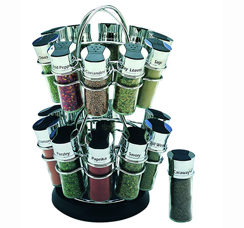 20 jar rotating spice storage rack - Olde Thompson