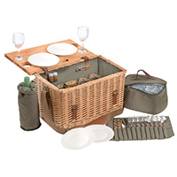 4 Person Picnic Hamper & Table Set