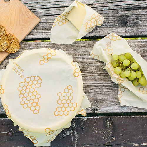 Set of 3 Bee's Wrap food covers
