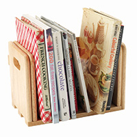Expanding Wooden CookBook Holder