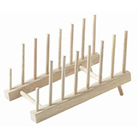 Wooden Plate Storage Rack