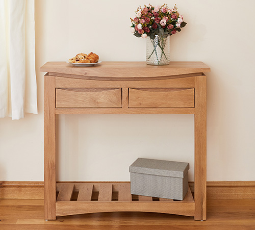 Solid oak console table - Roscoe