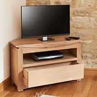 Oak Corner TV Cabinet - Roscoe