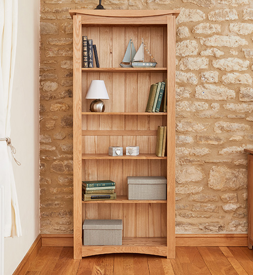 Solid oak contemporary bookcase - Roscoe