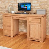 Twin Pedestal Computer Desk - Roscoe