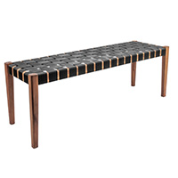 Weave Wooden Bench