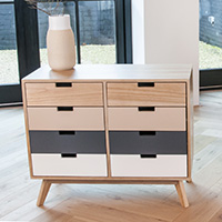 8 Drawer Small Sideboard - Snap