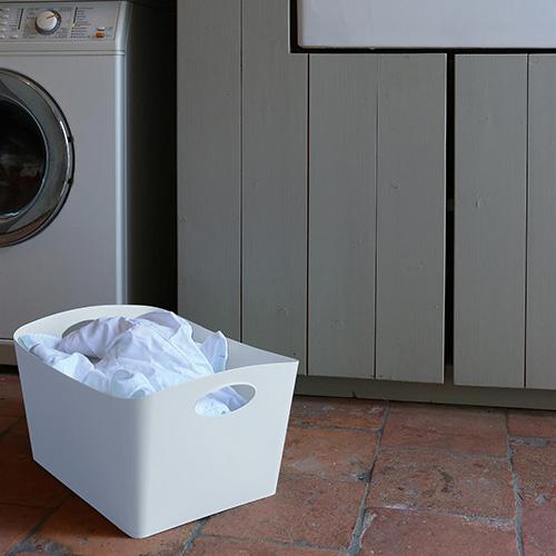 White Laundry Basket - 15 Litre