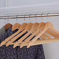 Set of 50 Wooden Hangers