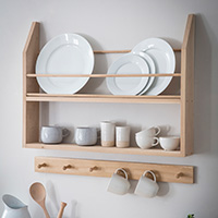 Oak Hambledon Plate Shelf