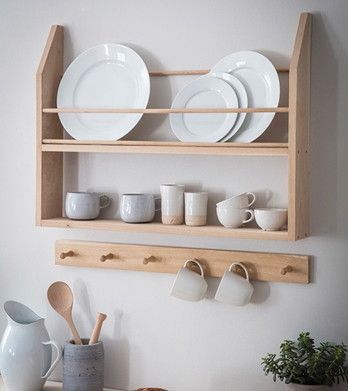 Oak Hambledon Plate Shelf