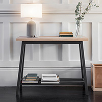 Oak Console Table - Clockhouse