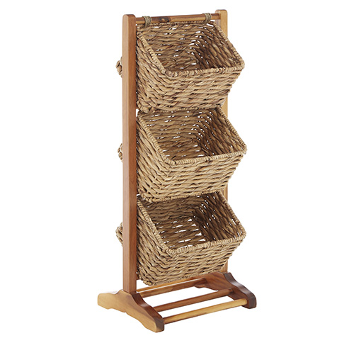 Superieur Water Hyacinth 3 Tier Storage Unit