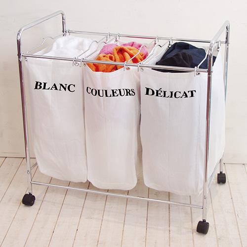 Triple laundry storage sorter