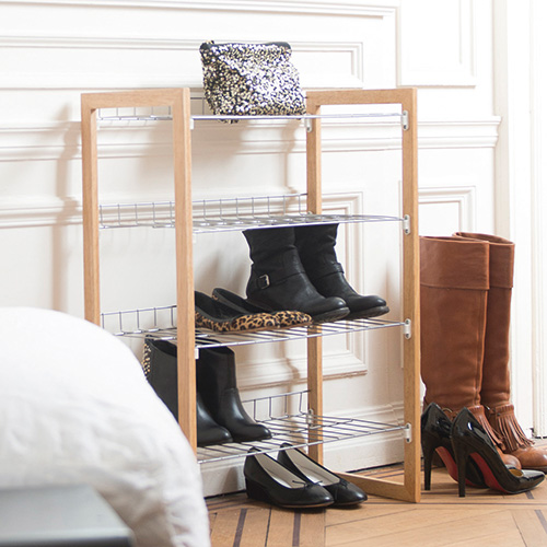 4-Tier Stackable Shoe Shelf Unit