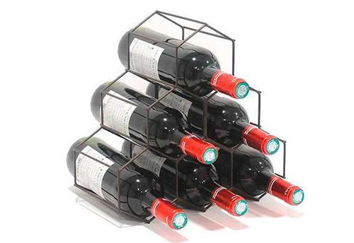 6 Bottle Wine Rack - Merlot Copper or Chrome
