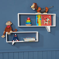 2 x Speech Bubble Shaped Shelves