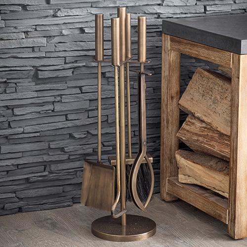 Brass Fireside Companion Set - Solden