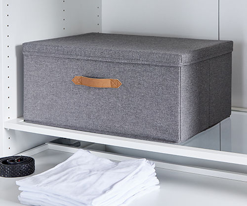 Grey Fabric Storage Box Store It Weave Amp Reed Storage