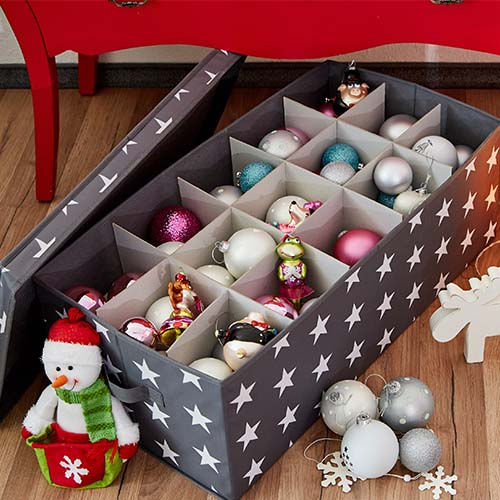 Fold-Flat Christmas Bauble Storage Box