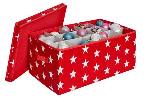 Fold-Flat Christmas Bauble Storage Box