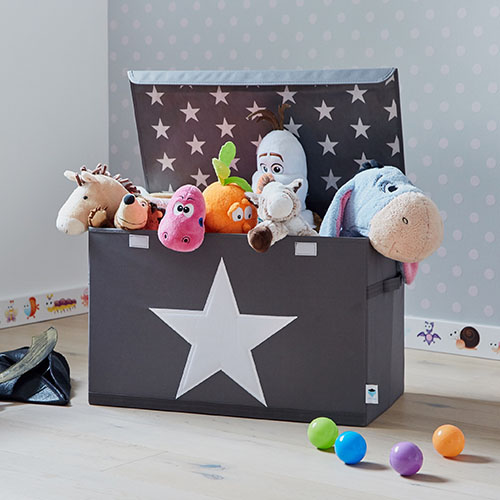 Kids Toy Storage Chest Grey