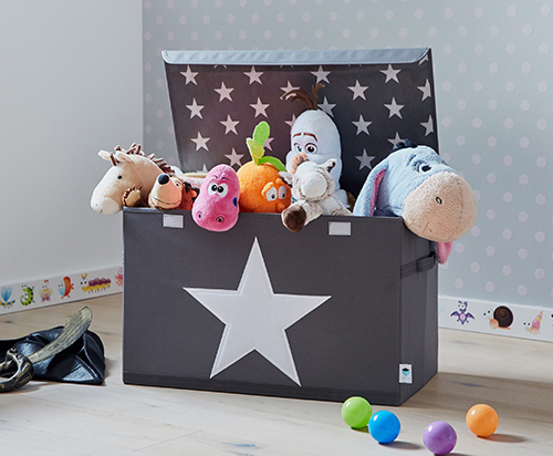 Kids Grey Toy Storage Chest