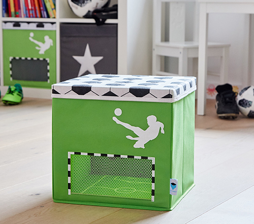 Football Toy Storage Box With Lid Store It Handbridge Storage Cubes Amp Baskets Store
