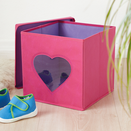 Lidded Toy Storage Cube With Window