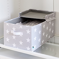 Lidded Star Storage Box with Handle