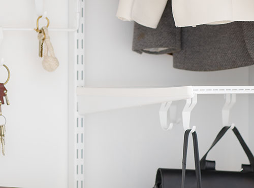 elfa twin slot shelving bracket