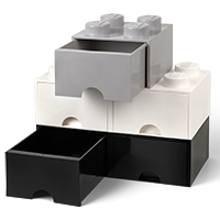 Giant LEGO Storage Drawers - Black & White Drawer Bundle