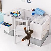 Giant LEGO Storage Drawers - Desk Bundle