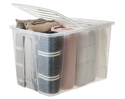 XXL Megaroller Lidded Plastic Storage Box - 120Ltr
