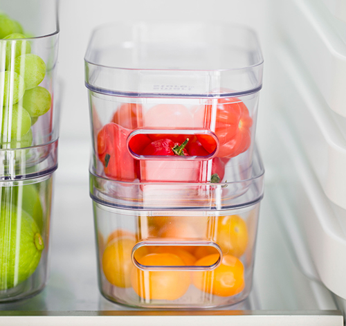 Smartstore Orthex compact clear fridge storage bin and lid - extra small