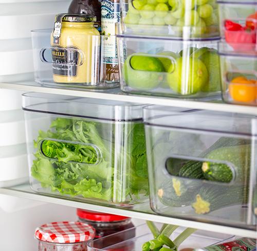 Fridge Storage Bin & Lid - Medium