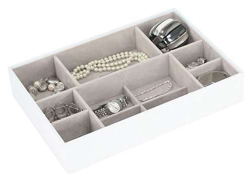 White & Rose Gold Supersize Jewellery Box - Stackers