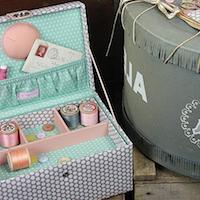 Sewing Box - Polka